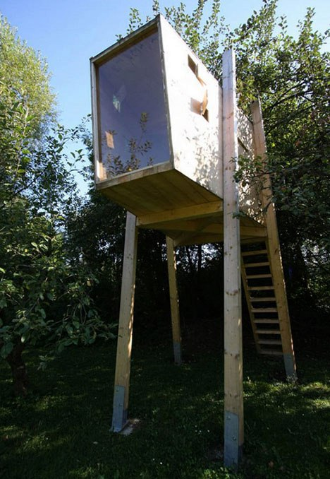 DIY Plans Modern Tree House for Kids