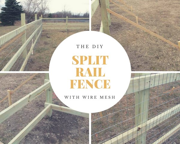 The DIY Split Rail Fence With Wire Mesh
