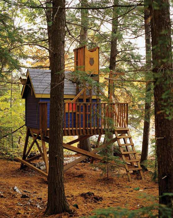 The Free Colorful Deluxe Tree House Plans