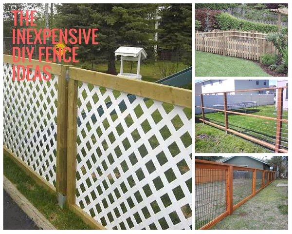 The Inexpensive DIY Fence Ideas