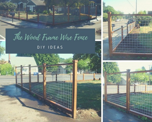 The Wood Frame Wire Fence