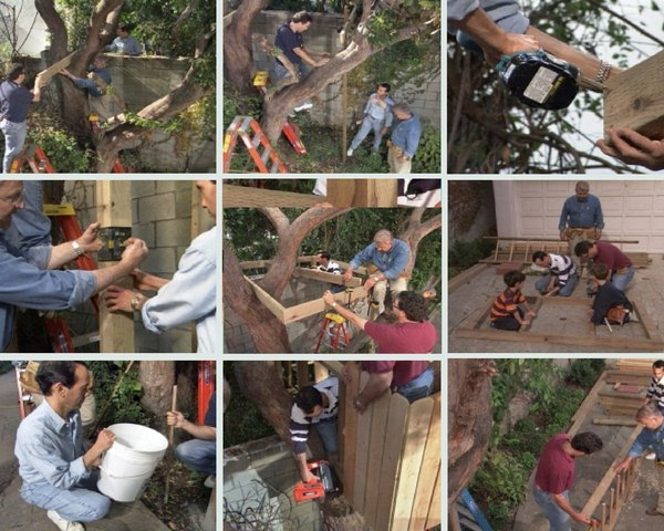 Uncovered DIY Tree House or Tree Fort