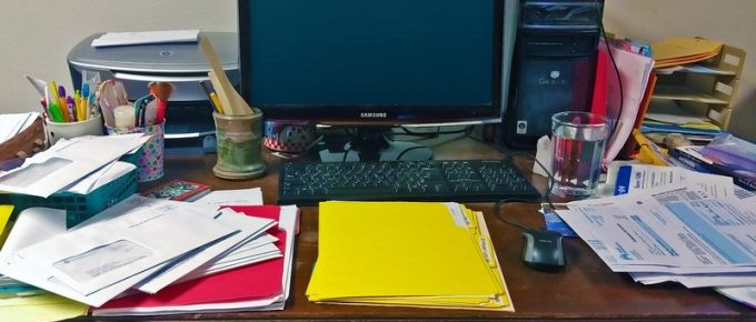 How to Reduce Home Office Paper Clutter