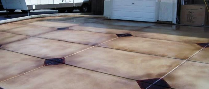 DIY Concrete Patio Staining