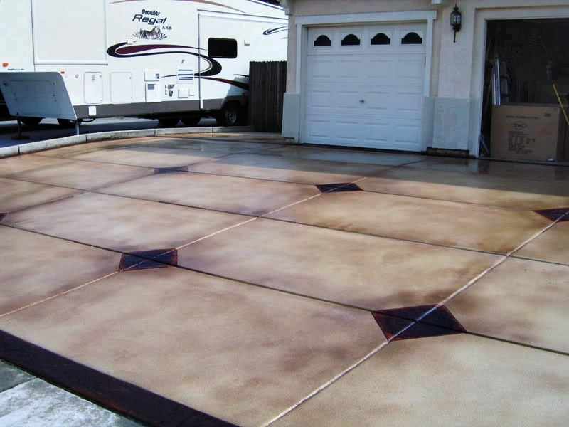 DIY Concrete Staining, Stamping and Cutting