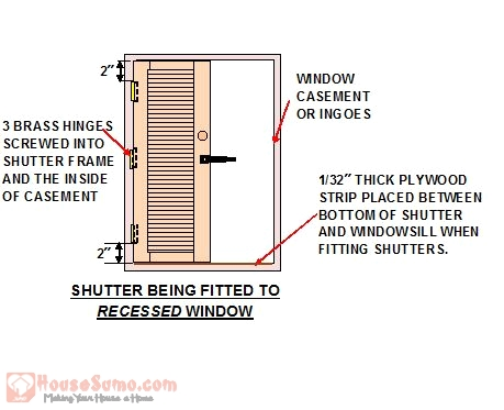 Shutter Fixing Detail for a Recessed Window - How to Install Interior Shutters on Your Windows
