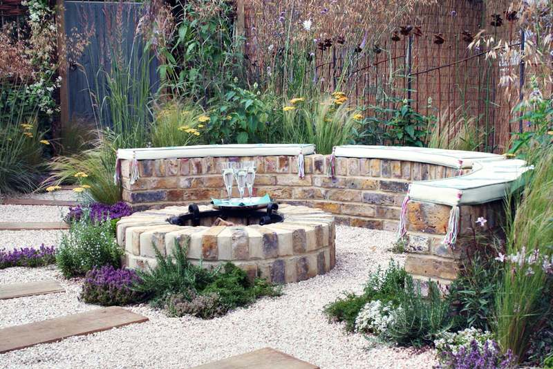 A firepit is a simple outdoor fireplace design