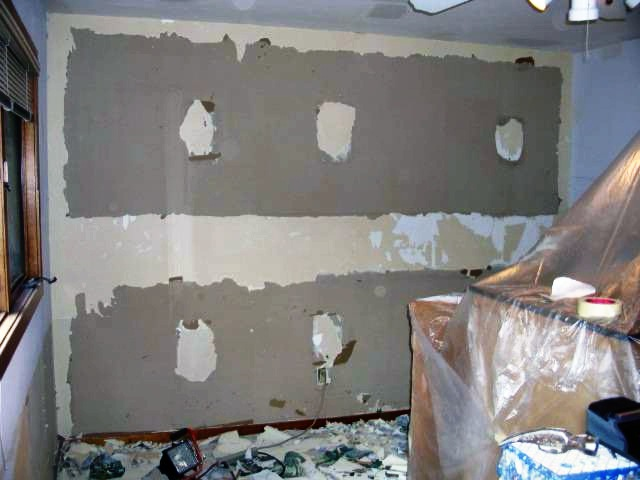 Image - Damaged drywall from wallpaper removal