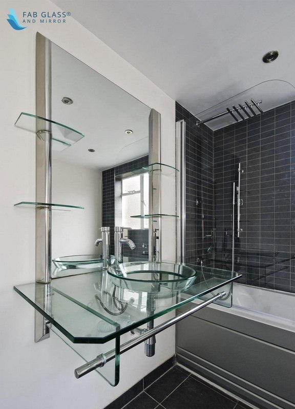 image - Glass Shelves for Bathrooms