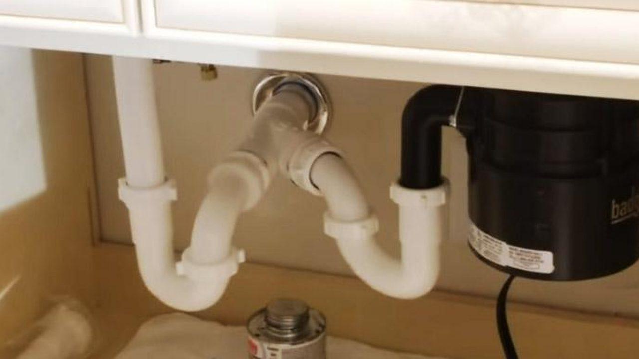 Double Kitchen Sink Plumbing Installation Process