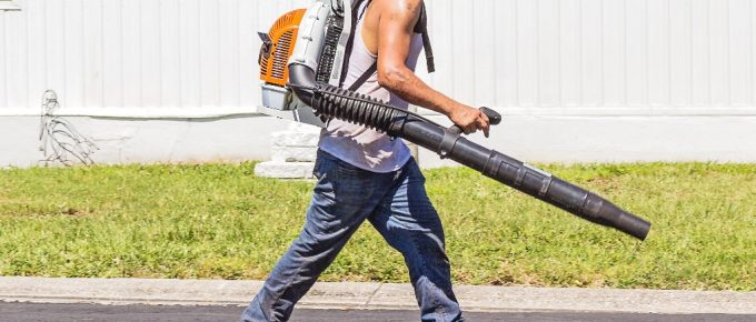 How to Clean Lawn with Commercial Backpack Blower